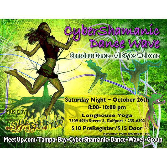 CyberShamanic Event Postcard