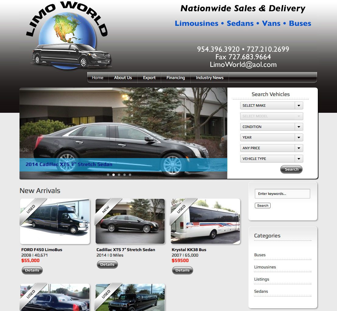 Limo World Website