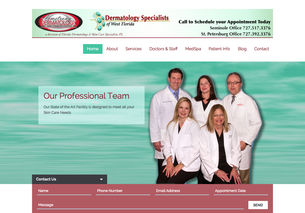 Armstrong Dermatology Website