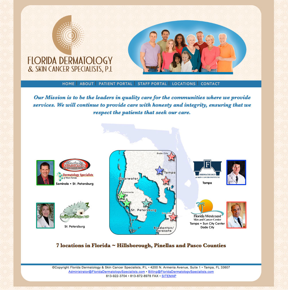 Florida Dermatology & Skin Care Specialists Website