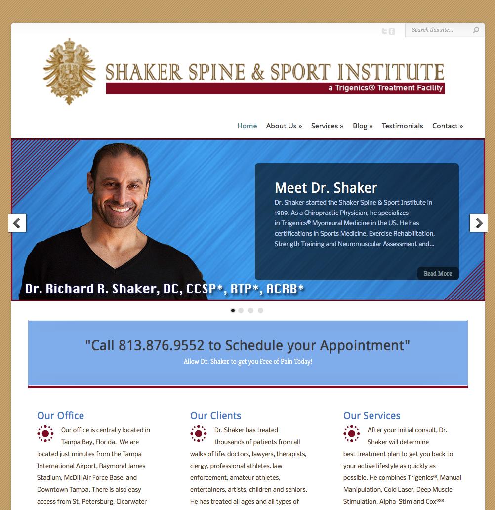 Shaker Trigenics Chiropractor