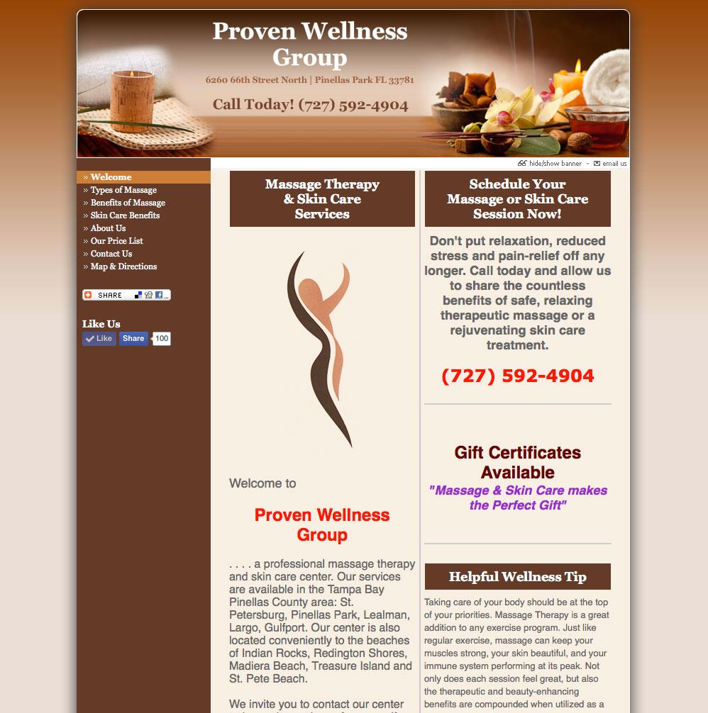 Proven Wellness Group Website