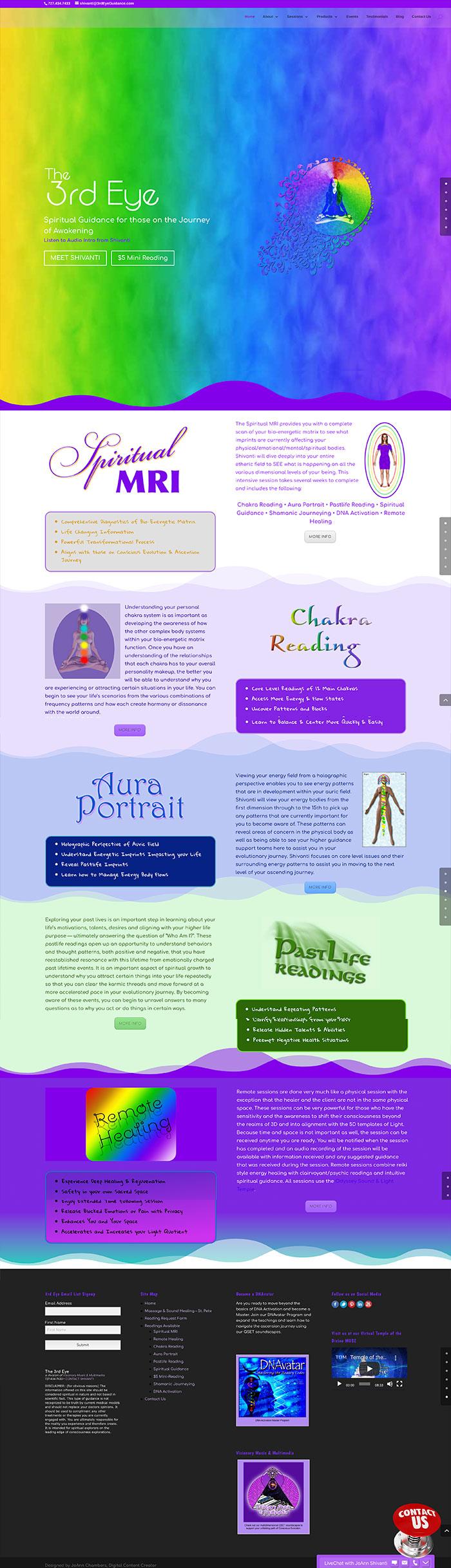 3rd Eye Long Scroll Webpage